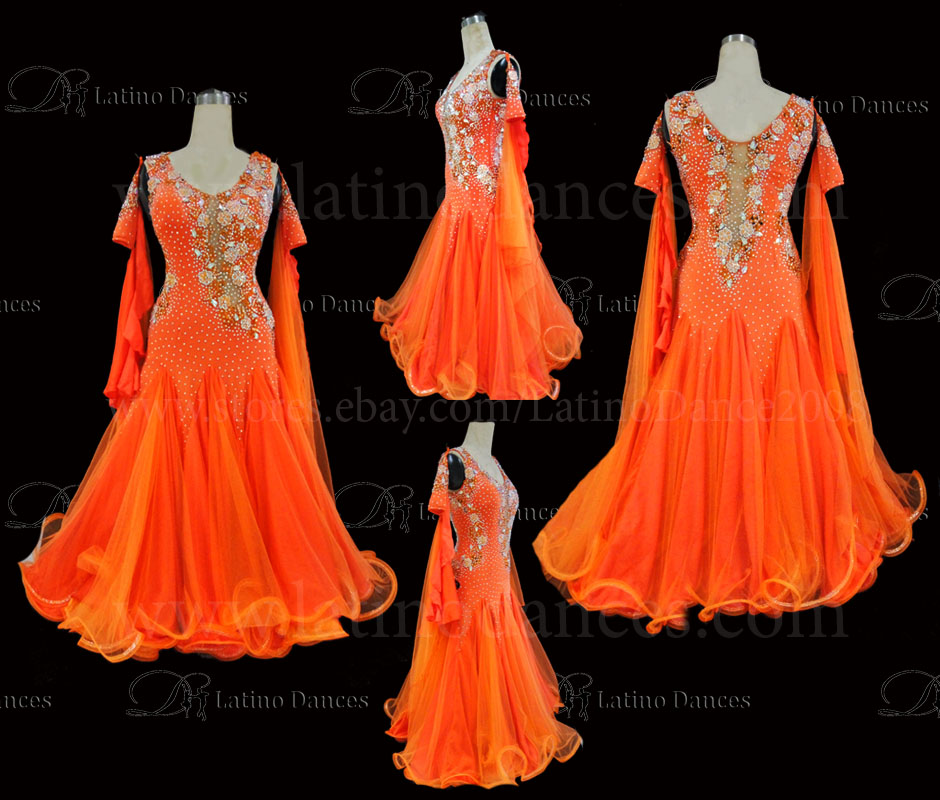 Ballroom Competition Smooth Dance Tailored Dress With High Quality stones ST279