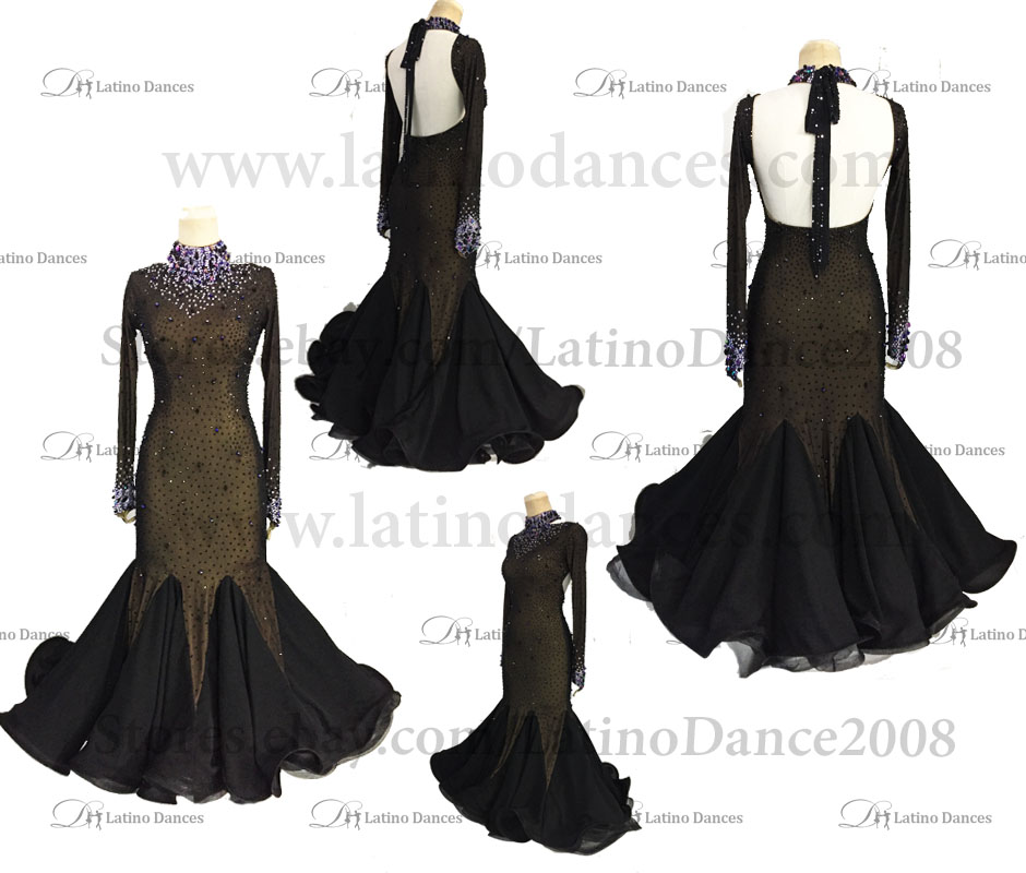 Ballroom Competition Smooth Dance Tailored Dress With High Quality stones ST280