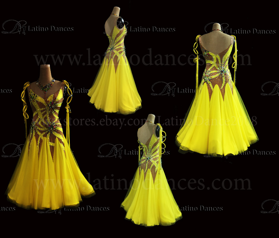 Ballroom Competition Smooth Dance Tailored Dress With High Quality stones ST282