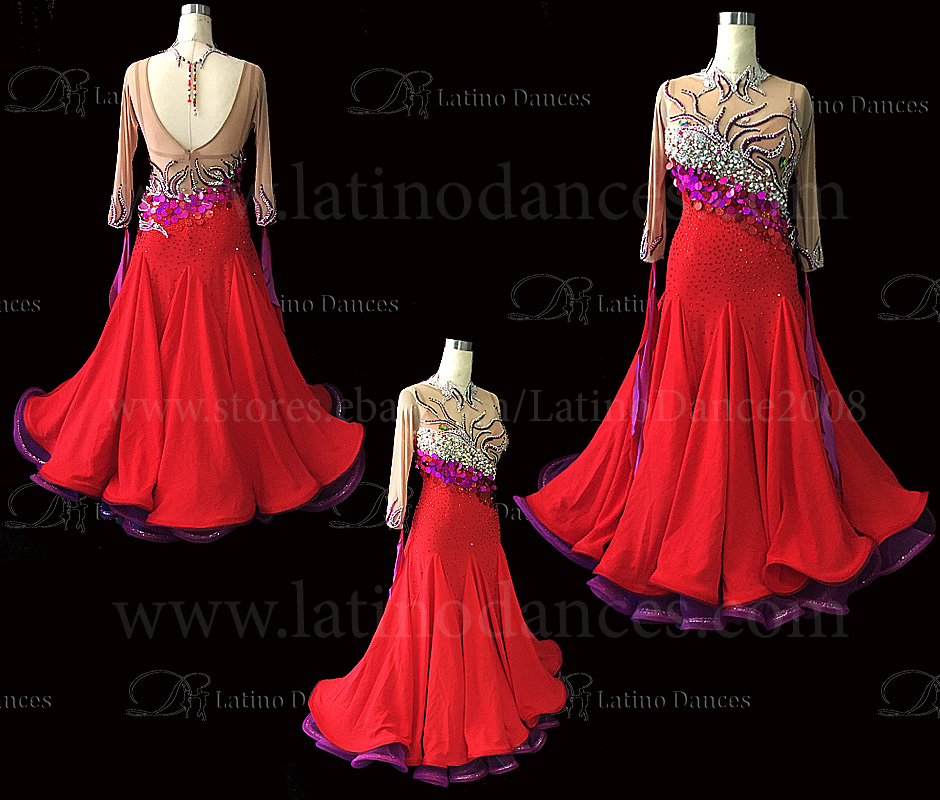 Ballroom Competition Smooth Dance Tailored Dress With High Quality stones ST290