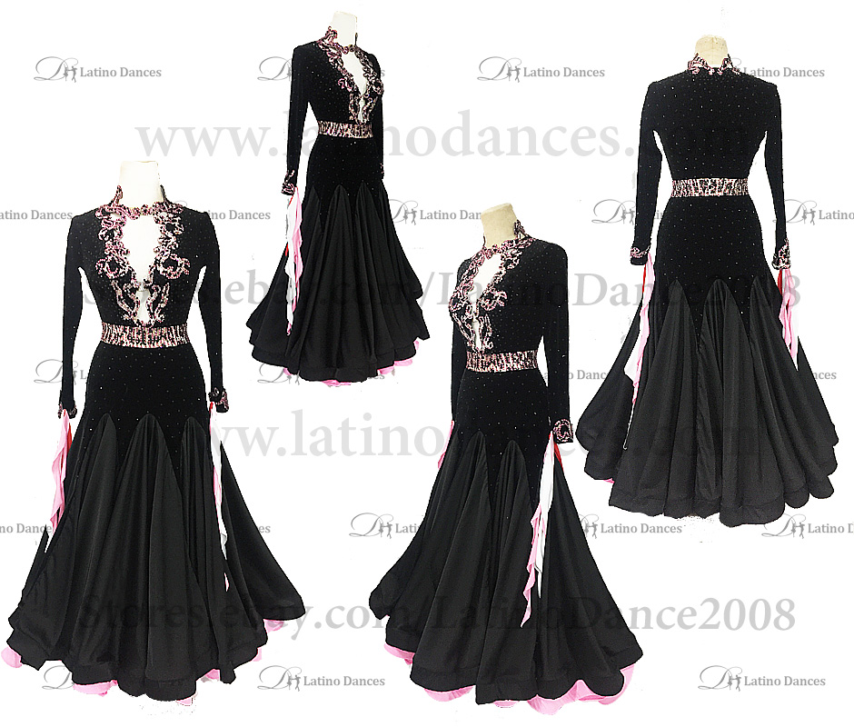 Ballroom Competition Smooth Dance Tailored Dress With High Quality stones ST292