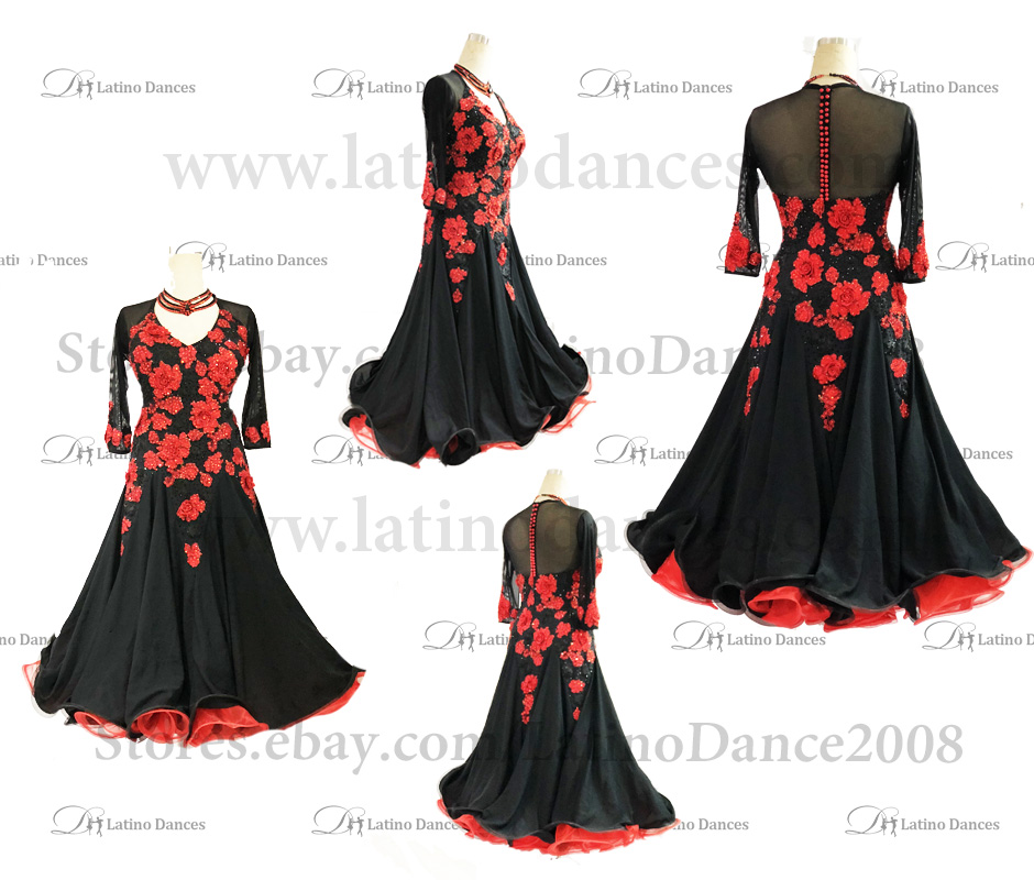 Ballroom Competition Smooth Dance Tailored Dress With High Quality stones ST297