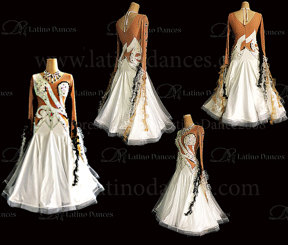 Ballroom Competition Smooth Dance Tailored Dress With High Quality stones ST298