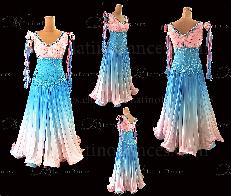 Ballroom Competition Smooth Dance Tailored Dress With High Quality stones ST300