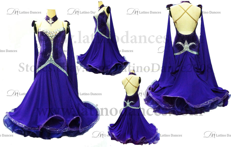 Ballroom Competition Smooth Dance Tailored Dress With High Quality stones ST211