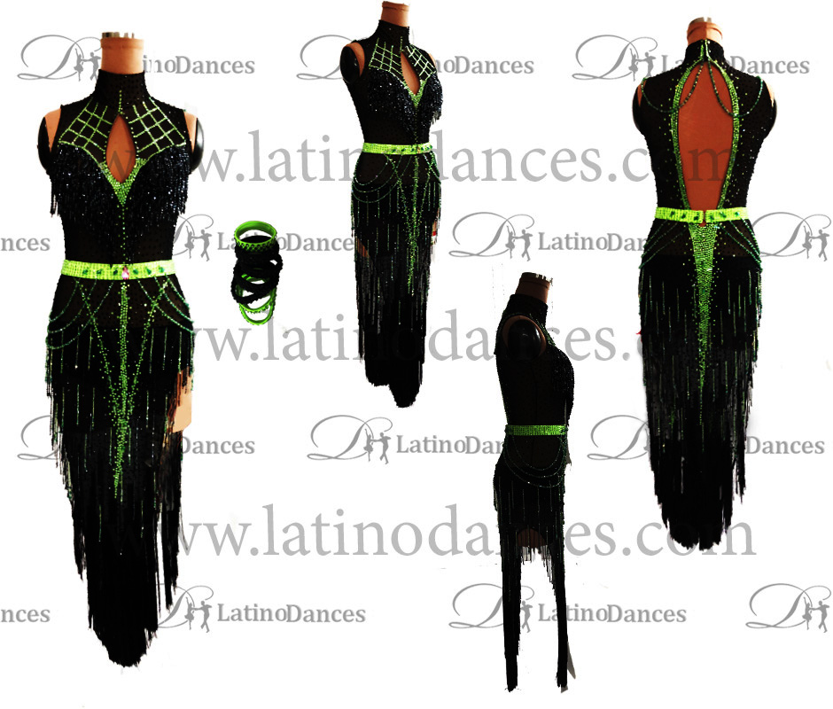 LATIN DANCE TAILORED DRESS WITH HIGH QUALITY STONES M607