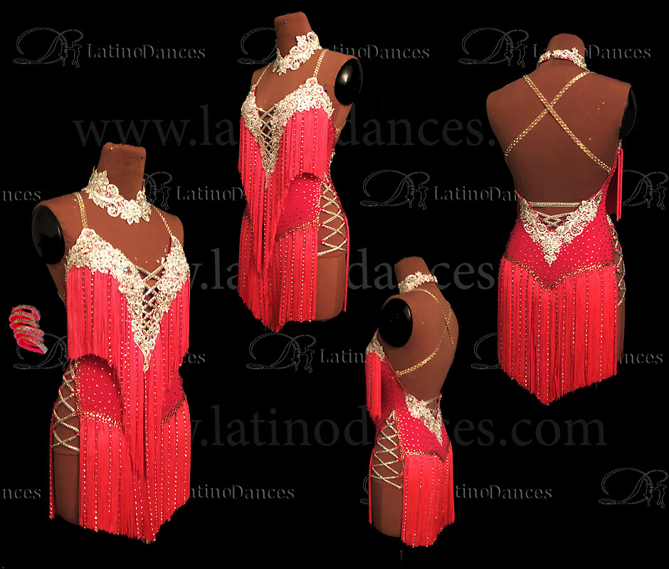LATIN RHYTHM DRESS WITH HIGH-QUALITY STONES M676