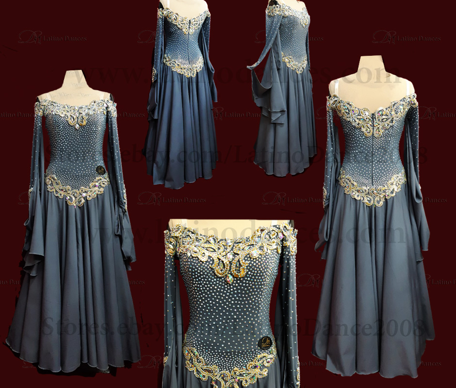BALLROOM/STANDAR/SMOOTH DRESS WITH HIGH QUALITY STONES ST299B