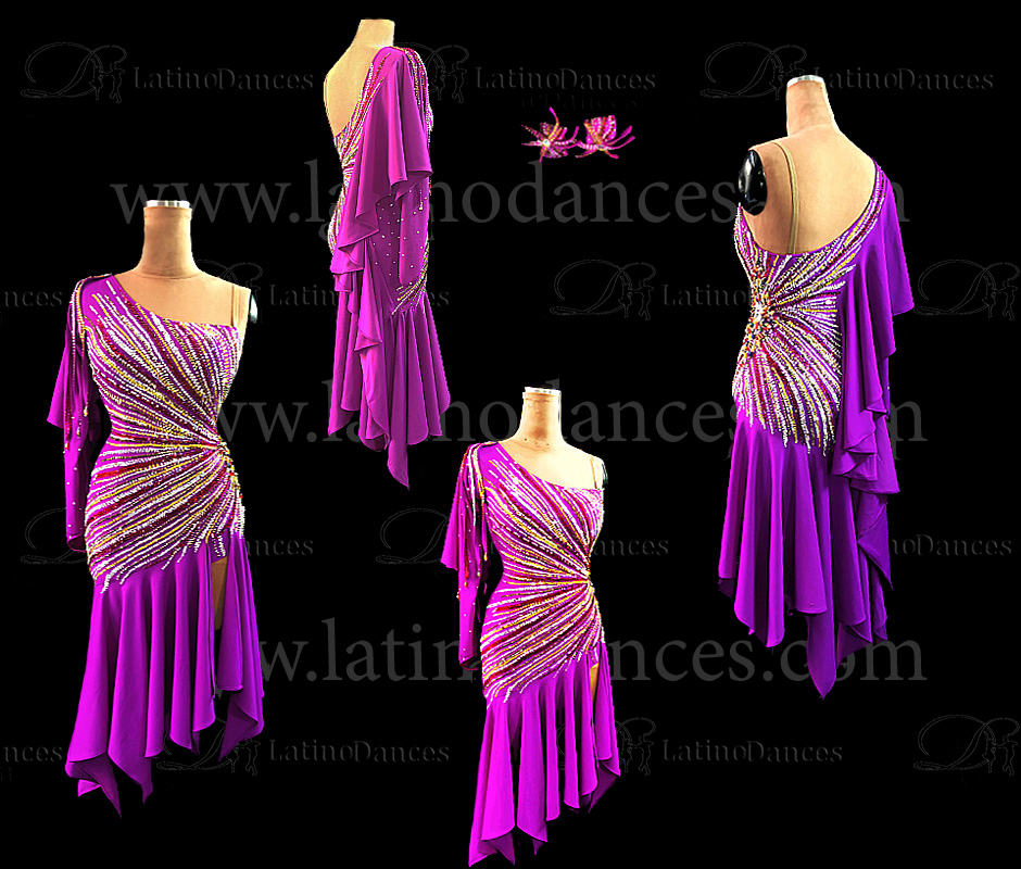 LATIN RHYTHM COMPETITION DRESS HIGH QUALITY STONES M614