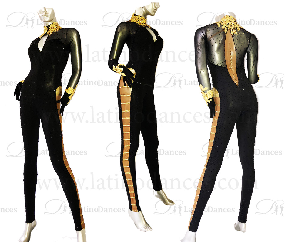 JUMPSUITS LATIN SALSA WITH HIGH QUALITY STONES J17