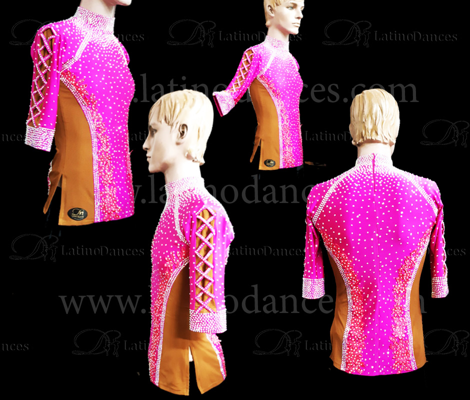 MEN'S LATIN SHIRT / BODY WITH HIGH QUALITY STONES DB197