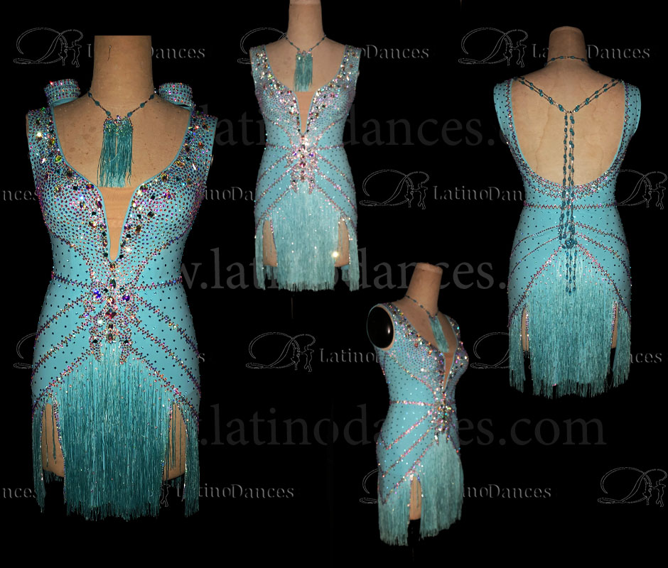 Latin  Dance Tailored Dress With High Quality stones M570