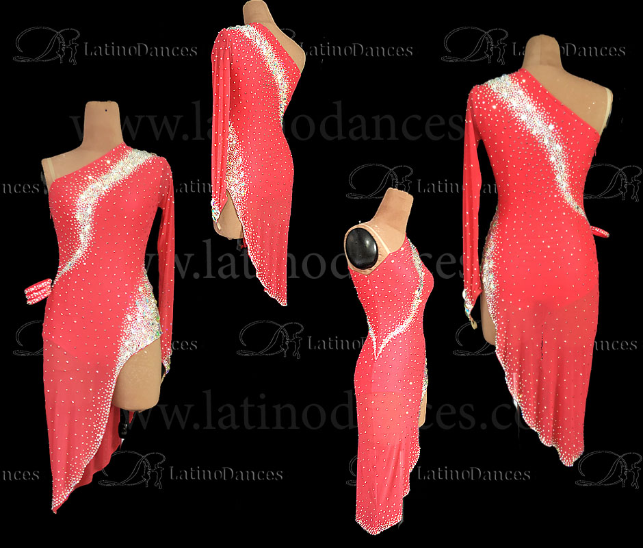 LATINO DANCE DRESS COMPETITION WITH HIGH QUALITY STONE M673
