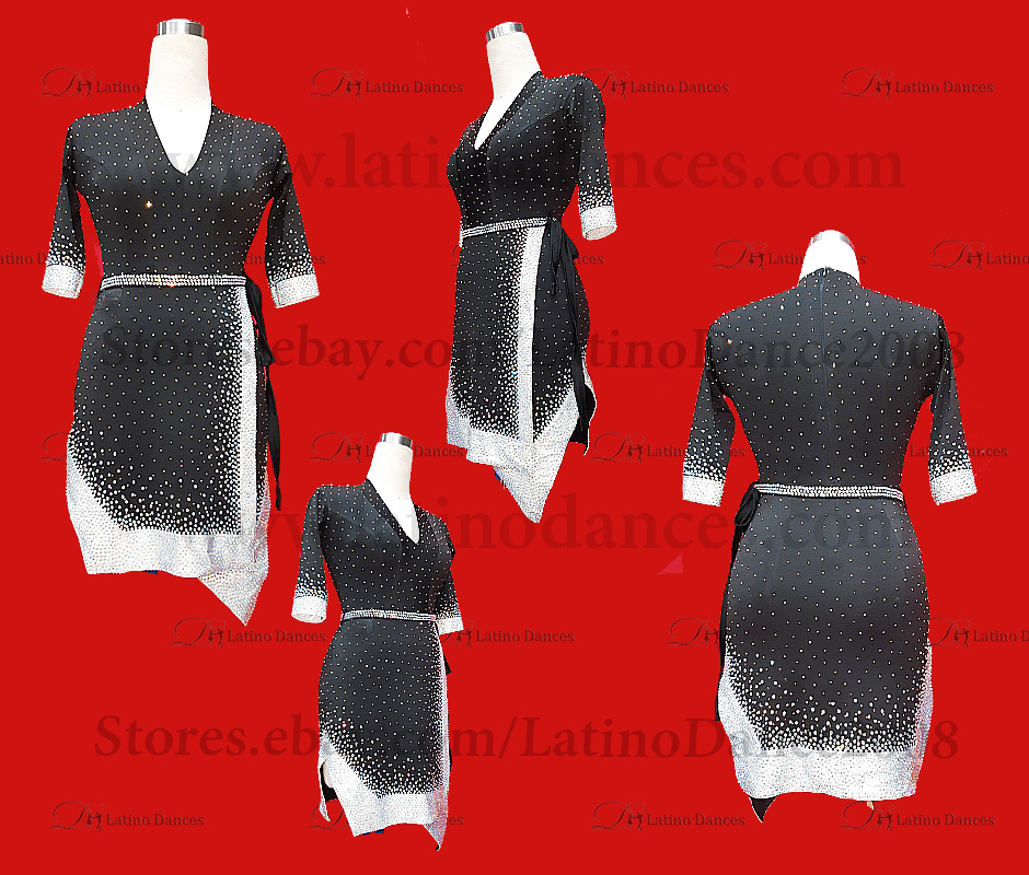 LATIN DANCE TAILORED DRESS WITH HIGH QUALITY STONES M548B