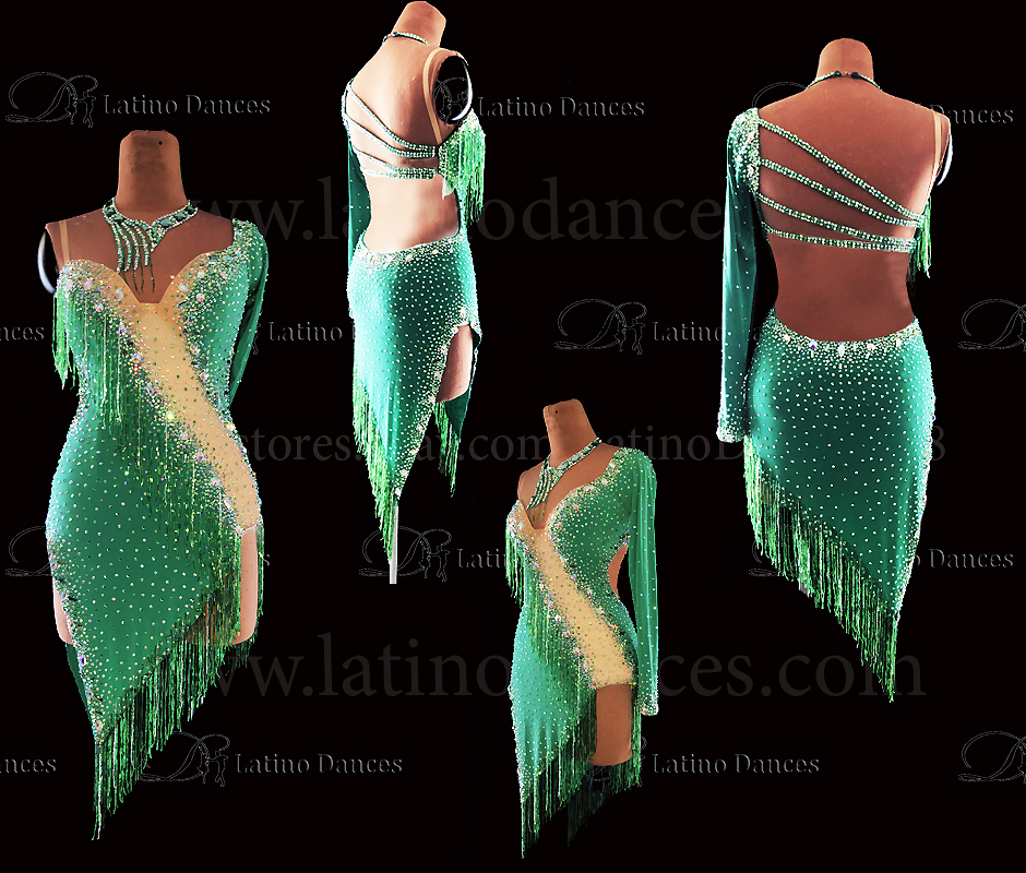 LATIN RHYTHM DRESS WITH HIGH-QUALITY STONES M671