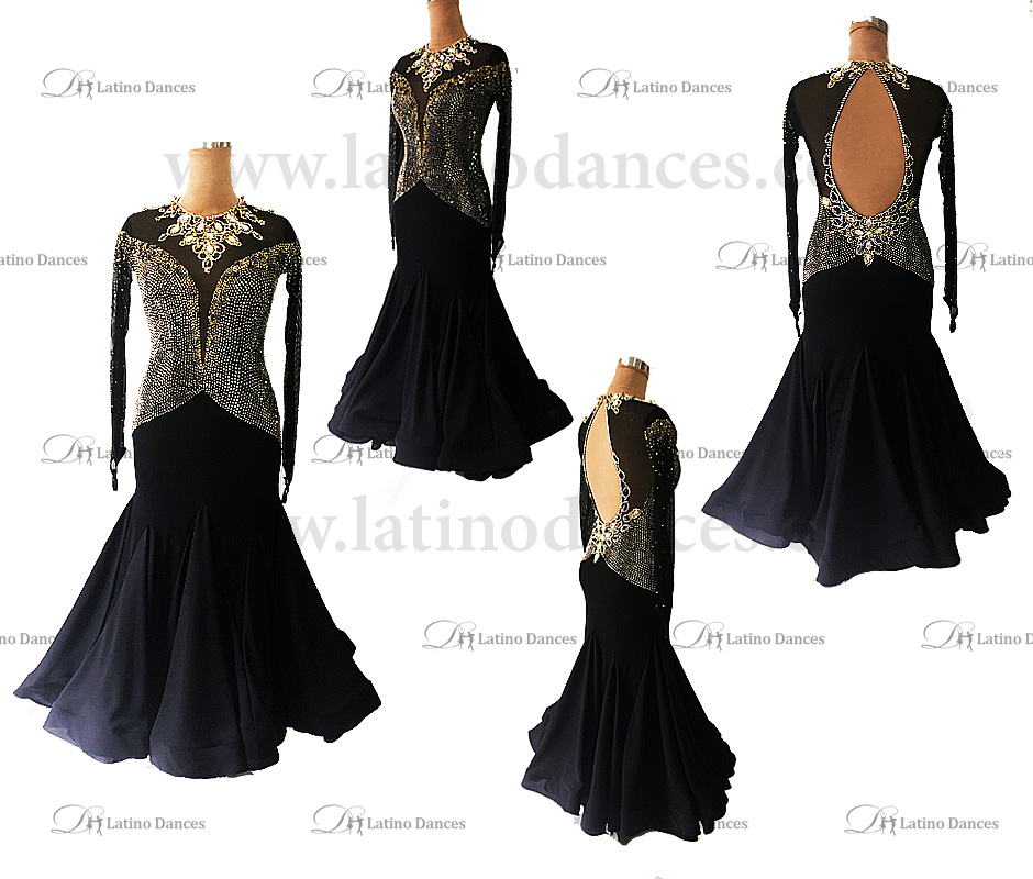 BALLROOM / STANDARD DRESS WITH OSTRICH FEATHERS ST335B