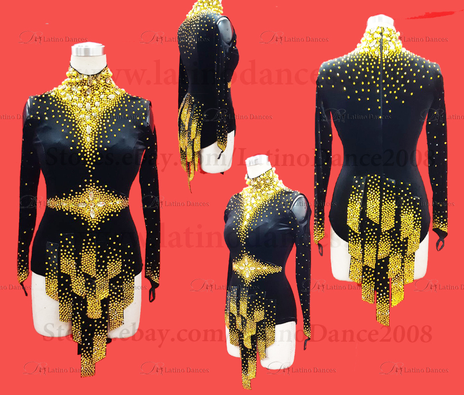 LATIN DANCE TAILORED DRESS WITH HIGH QUALITY STONES M663
