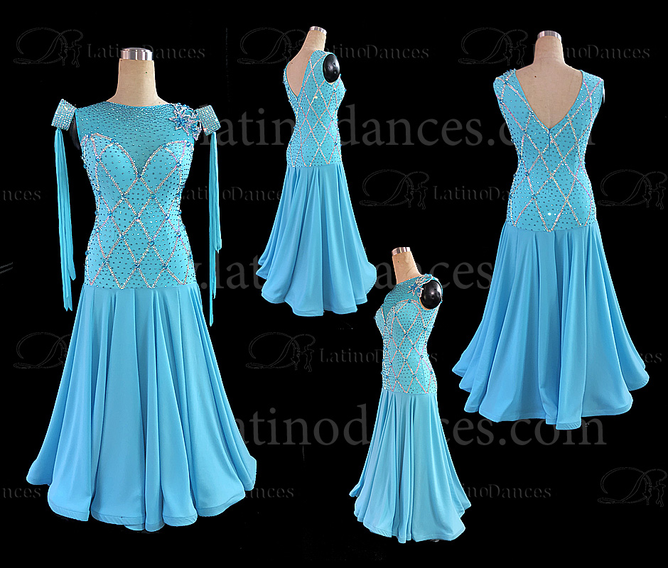 Ballroom Competition Smooth Dance Tailored Dress With High Quality stones ST262