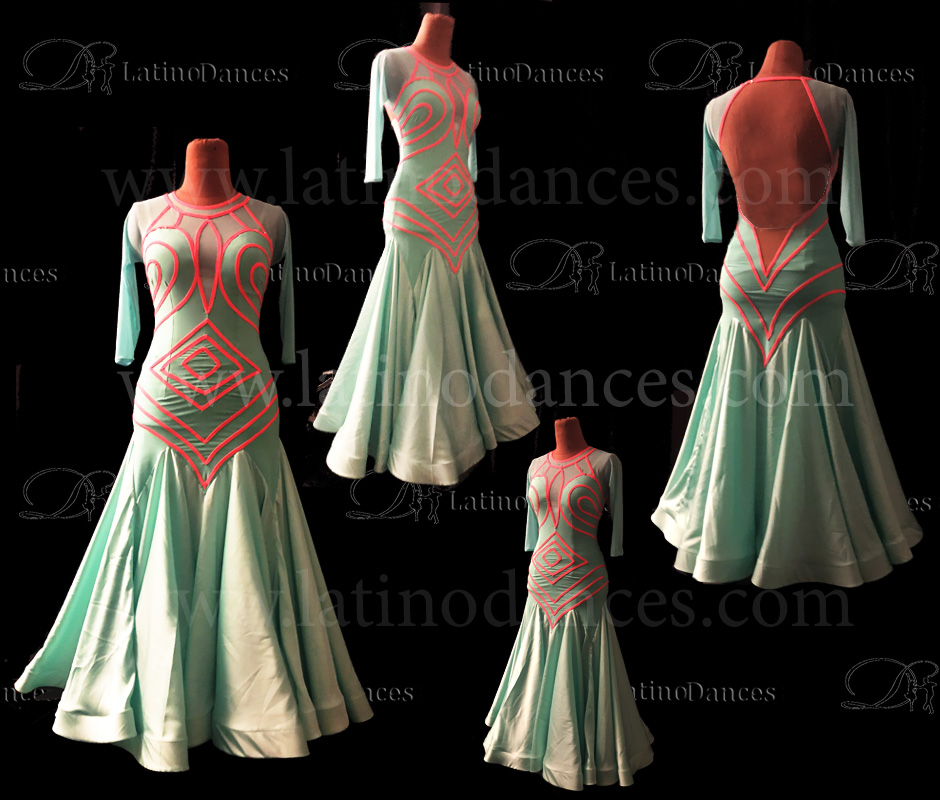 STANDARD/ SMOOTH/ BALLROOM DRESS WITH HIGH QUALITY ST354