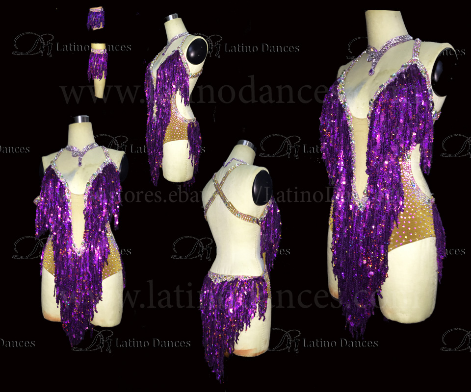 LATINO DANCE DRESS COMPETITION WITH HIGH QUALITY STONE M460