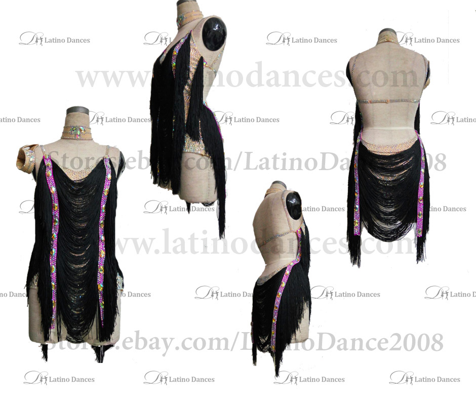 LATINO DANCE DRESS COMPETITION WITH HIGH QUALITY STONE M493