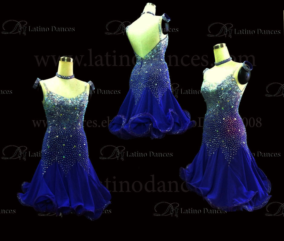 LATINO DANCE DRESS COMPETITION WITH HIGH QUALITY STONE M495