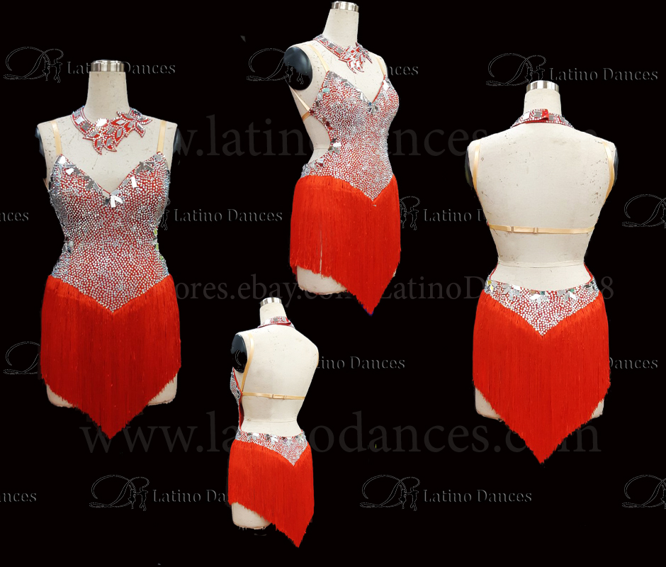 LATINO DANCE DRESS COMPETITION WITH HIGH QUALITY STONE M455B