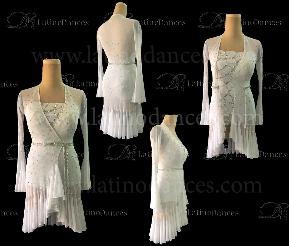 LATIN RHYTHM DRESS WITH HIGH-QUALITY STONES M664