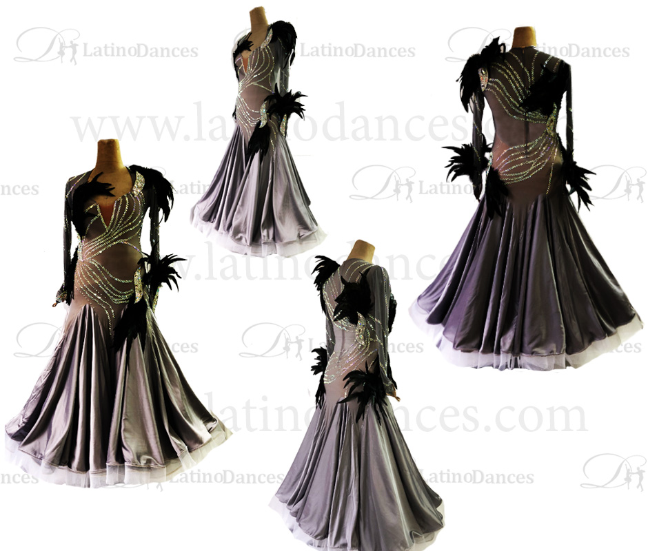 BALLROOM / SMOOTH DRESS WITH HIGH QUALITY STONES ST314