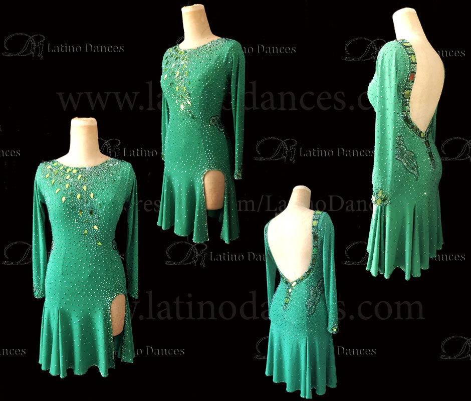 LATIN RHYTHM DRESS WITH HIGH-QUALITY STONES M665