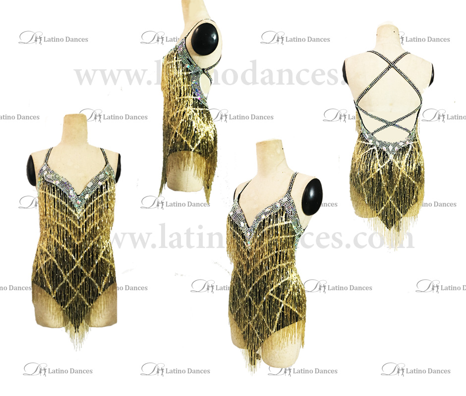 LATIN RHYTHM DRESS WITH HIGH-QUALITY STONES M648