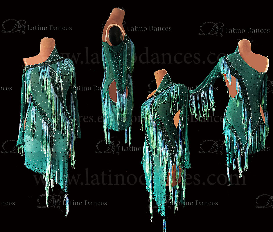 LATIN RHYTHM DRESS WITH HIGH-QUALITY STONES M667