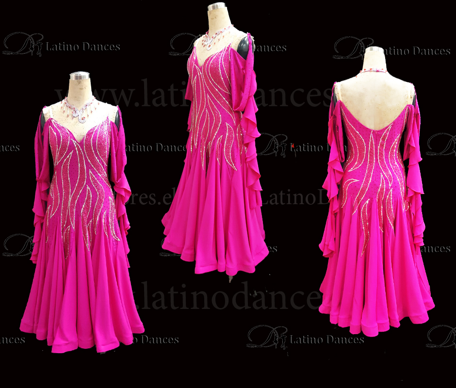 STANDARD/SMOOTH BALLROOM DRESS WITH HIGH QUALITY ST322B