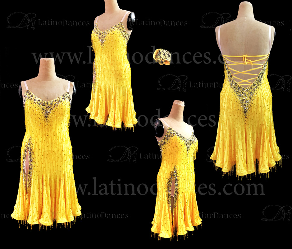 Latin  Dance Tailored Dress With High Quality stones M563