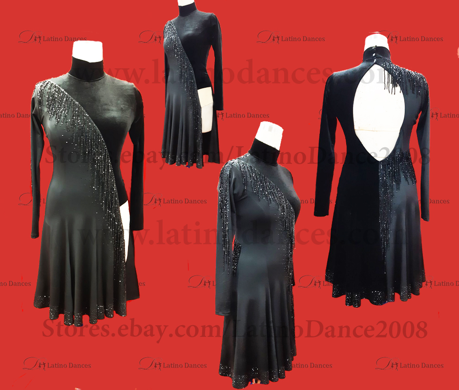LATIN DANCE TAILORED DRESS WITH HIGH QUALITY STONES M659