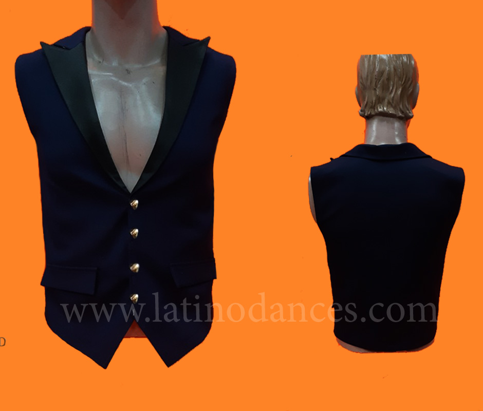 MEN'S JACKET LATIN BODY/SHIRT WITH HIGH QUALITY STONES DB202