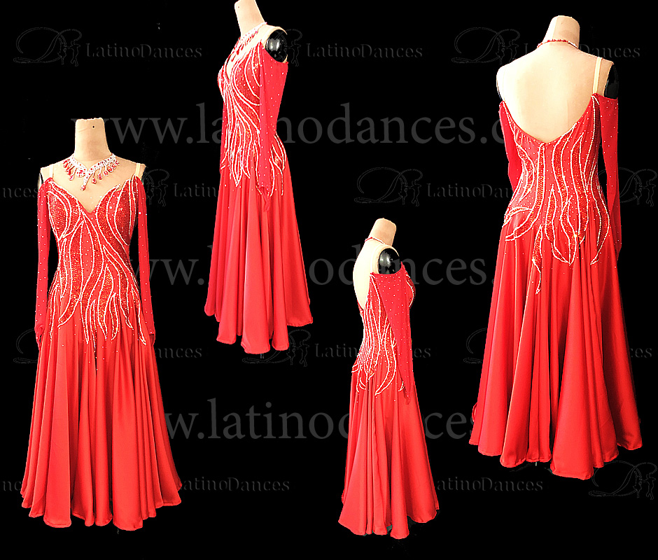 STANDARD DRESS WITH HIGH QUALITY STONES ST322
