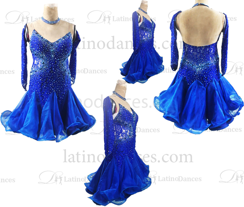 ROBE LATINE COMPETITION DANSE SPORTIVE M702