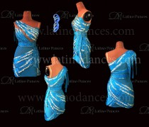 LATIN DRESS WITH HIGH-QUALITY STONES M653