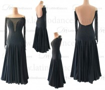 STANDARD/SMOOTH BALLROOM DRESS WITH HIGH QUALITY ST324
