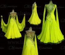 Ballroom Competition Smooth Dance Tailored Dress With High Quality stones ST250b