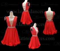 LATIN RHYTHM DRESS WITH HIGH-QUALITY STONES M641
