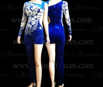 JUMPSUITS LATIN SALSA WITH HIGH QUALITY STONES J18