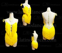 LATIN DANCE TAILORED DRESS WITH HIGH QUALITY STONES M618