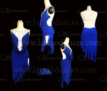 LATIN DANCE DRESS WITH HIGH QUALITY STONES M645