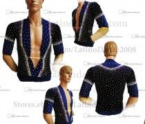 MEN'S LATIN VEST/COAT/ BODY. DB 140