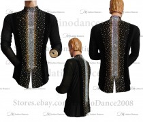 MEN'S LATIN VEST/COAT/ BODY. DB 148