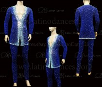 MEN'S LATIN VEST/COAT/ BODY. DB 154