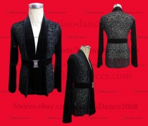 MEN'S LATIN VEST/COAT/ BODY. DB 175