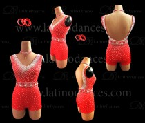 LATIN DANCE TAILORED DRESS WITH HIGH QUALITY STONES M612